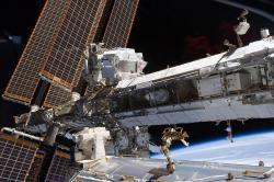 Modul AMS-02 na Mezin�rodn� vesm�rn� stanici. Kredit: NASA.