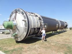 Raketa R-36 vmuzeu mezikontinentálních raket vukrajinském Pervomajsku. Kredit: Comtourist.