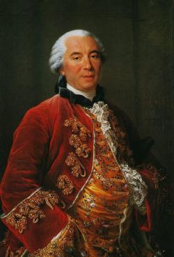 Francouzský přírodovědec Georges Louis Leclerc de Buffon přistoupil jako jeden z prvních učenců k otázce stáří Země experimentálně. Výsledkem byl odhad 75 000 let, což bylo podstatně více než u Usshera, reálně ale zaostal za správným výsledkem více než 60 000krát. Kredit: François-Hubert Drouais (1753), převzato z Wikipedie.