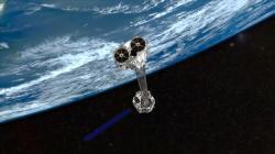 Vesmírná rentgenová observatoř NuSTAR. Kredit: NASA / JPL-Caltech.