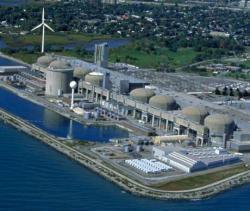 Kanadská jaderná elektrárna Pickering s reaktory CANDU, která zajišťuje elektřinu během modernizace elektráren Bruce a Darlington (zdroj OPG).