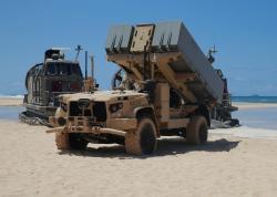 Systém NMESIS během cvičení Large-Scale Exercise 2021. Kredit: Maj. Nick Mannweiler / US Marine Corps.