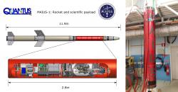 Experiment MAIUS-1. Kredit: DLR.