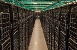 Vnitřnosti superpočítače Frontera. Kredit: University of Texas, Austin.