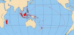 Oblast austronéských jazyků. Kredit: Vrata / Wikimedia Commons.