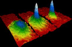 Klasické schéma Boseho-Einsteinova kondenzátu. Kredit: NIST/JILA/CU-Boulder.