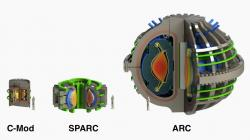 Tokamaky vrežii MIT. SPARC uprostřed. Kredit: Commonwealth Fusion Systems.