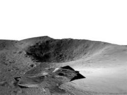 D fotografie pořízená čínským lunochodem Jutu 2 (zdroj CLEP).