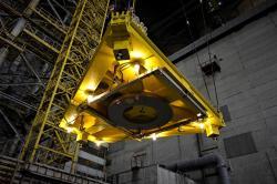 3D skenování vnitřních prostor nového sarkofágu (zdroj Černobylská jaderná elektrárna).