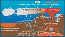 Složitý svět podmořských kuřáků. Kredit: NOAA.