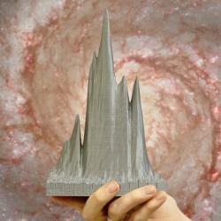 3D tištěný rychlý rádiový záblesk. Kredit: Anne Archibald/University of Amsterdam.