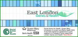 Výzkum genů obyvatel východního Londýna. Kredit: SAFH