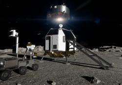 Mise European Large Logistic Lander (EL3). Kredit: ESA/ATG Medialab.
