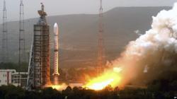 Jeden z předchozích úspěšných startů rakety Dlouhý pochod (zdroj China's Xinhua News Agency).