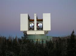 Large Binocular Telescope. Kredit: NASA.
