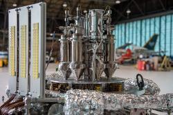 Prototyp nanoreaktoru Kilopower o výkonu 1 kW. Kredit: NASA Glenn.