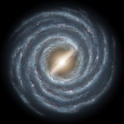 Mléčná dráha. Plná černých děr. Kredit: R. Hurt / NASA / JPL.