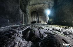 Podzemí budovaného uložiště Onkalo (zdroj Posiva).