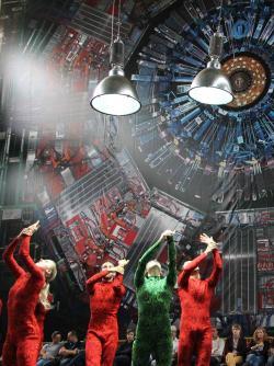 VCERNu vzývají novou částici. Kredit: Julian Calo / CERN.