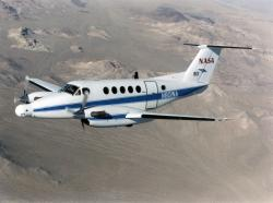 NASA B-200 King Air. Kredit: NASA.