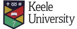 Keele University, logo.