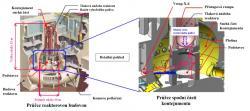 Schéma míst, kam postupně pronikají kamery a roboty při průzkumu kontejnmentu druhého bloku (zdroj TEPCO).