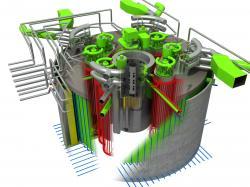 Schéma reaktoru BREST-OD-300 (zdroj Rosatom).