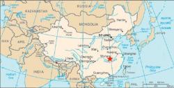 Wu-Chan, Čína. Kredit: CIA.