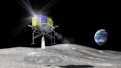 SLIM přistává na Měsíci.  Zdroj: jaxa.jp