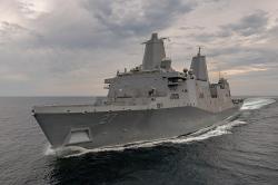 USS Portland vMexickém zálivu. Kredit: Lance Davis/U.S. Navy.