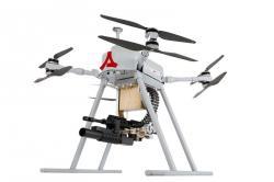 Dron Songar ve verzi skulometem a granátometem. Kredit: Asisguard.
