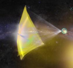 Kdy už nanolodě napnou plachty a vyrazí ke hvězdám? Kredit: Breakthrough Starshot.