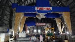 Uvnitř nové horní části budovy třetího bloku (zdroj TEPCO).