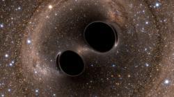 Byly to černé díry nebo ne? Kredit: LIGO/Simulating eXtreme Spacetimes.
