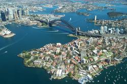 Port Jackson, přístav vSydney, zptačí perspektivy. Rodney Haywood / Wikimedia Commons.