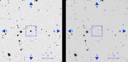Jak může během pár desítek let zmizet hvězda beze stopy? Kredit: Villarroel et al. (2019).