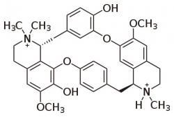 D - tubokurarin, myorelaxans používané k uvolňování spazmů (křečí).