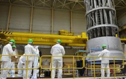 Práce na rekonstrukci a modernizaci prvního bloku Kolské jaderné elektrárny (zdroj Rosenergoatom).
