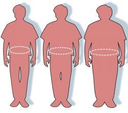Pre belošskú európsku populáciu je podľa kritériíSvetovej zdravotníckej organizácie(WHO) definovanáindexom telesnej hmotnosti(body-mass index, BMI) vyšším ako 30. Pre ázijskú a pacifickú populáciu je obezita definovaná BMI vyšším ako 25, niekedy ako 27. Hodnota BMI v rozmedzí 25–30 u belošskej európskej populácie je označovaná akonadváha.