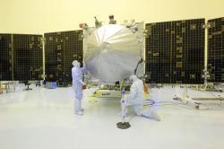 MAVEN během příprav na start. Zdroj: http://www.universetoday.com/