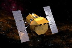Vesmírná gama observatoř Swift. Kredit: NASA.