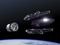 Vypuštění satelitů Swarm na oběžnou dráhu. Kredit: ESA P. Carril.