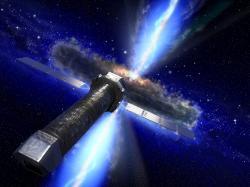 Budoucí vesmírná rentgenová observatoř Athena. Kredit: ESA.