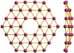 Teoretický borofen B36. Kredit: Materialscientist / Wikipedia Commons.