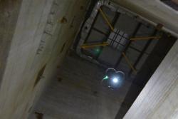 Dron RISER při testech Sellafieldu (zdroj NDA).