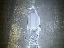 Druhý robot při průzkumu nitra kontejnmentu druhého bloku (zdroj TEPCO).
