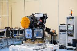 Družice CHEOPS při přípravě ke startu (zdroj ESA).