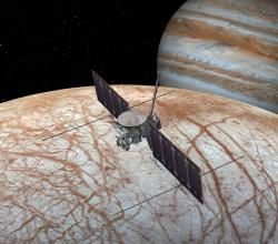 Vizualizace sondy Europa Multiple Flyby Mission. Zdroj: https://upload.wikimedia.org/