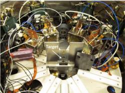 Spalační neutronový zdroj ve švýcarském ústavu PSI, z jehož chladící vody bylo získáno beryllium 7Be (zdroj PSI).