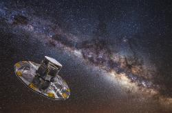 Gaia hledí do Mléčné dráhy. Kredit: ESA.